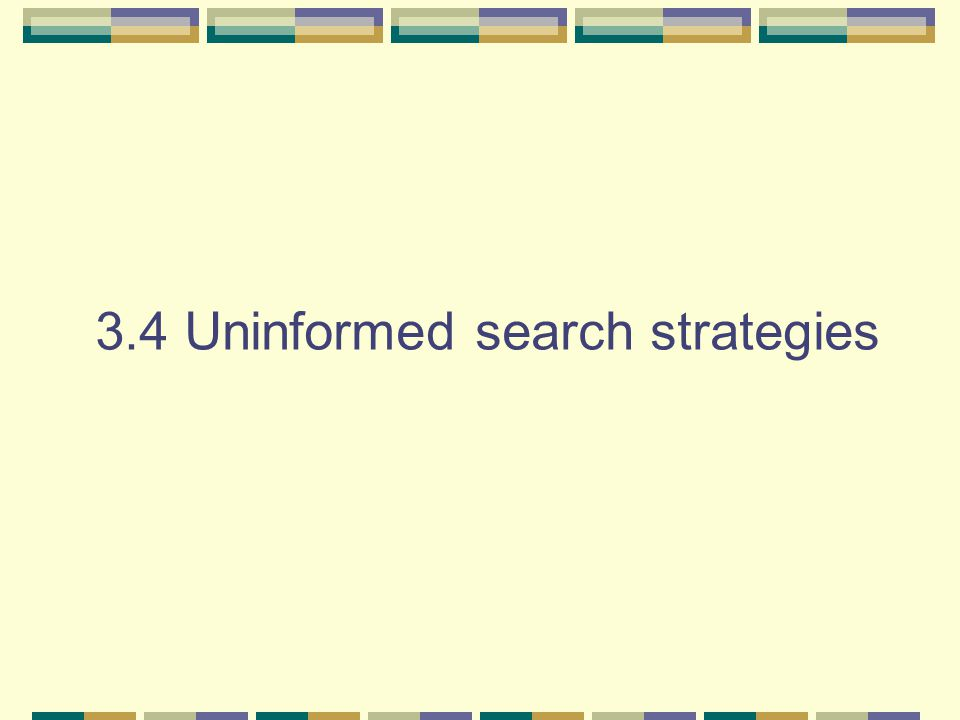 3.4 Uninformed search strategies