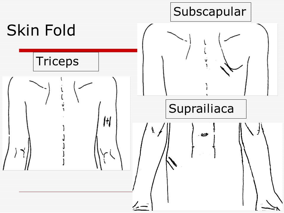 Skin Fold Triceps Subscapular Suprailiaca