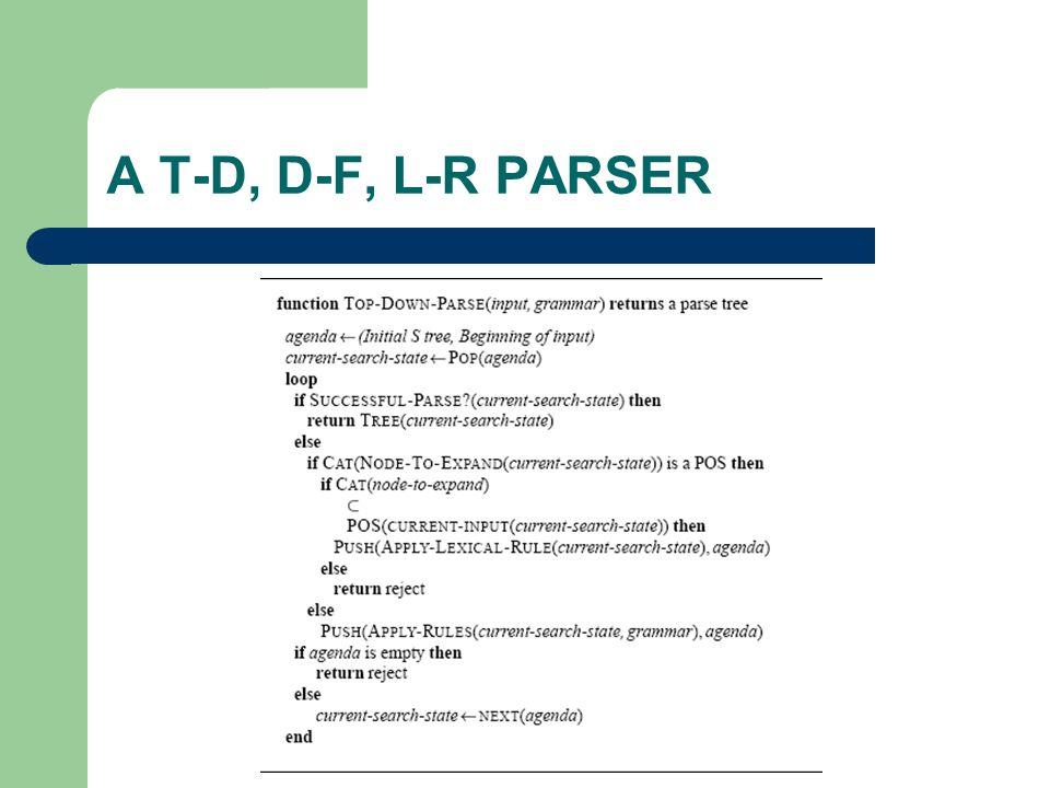 A T-D, D-F, L-R PARSER
