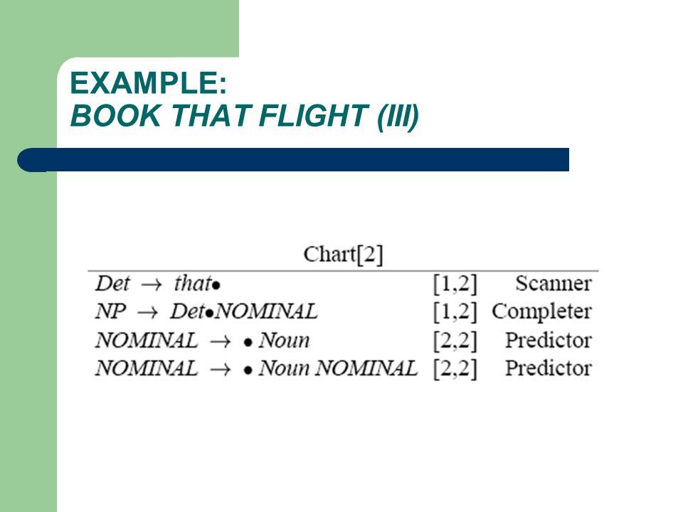 EXAMPLE: BOOK THAT FLIGHT (III)