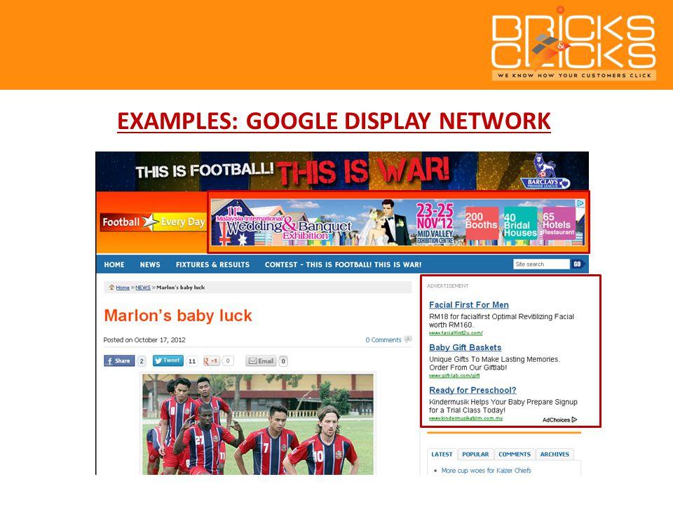 EXAMPLES: GOOGLE DISPLAY NETWORK