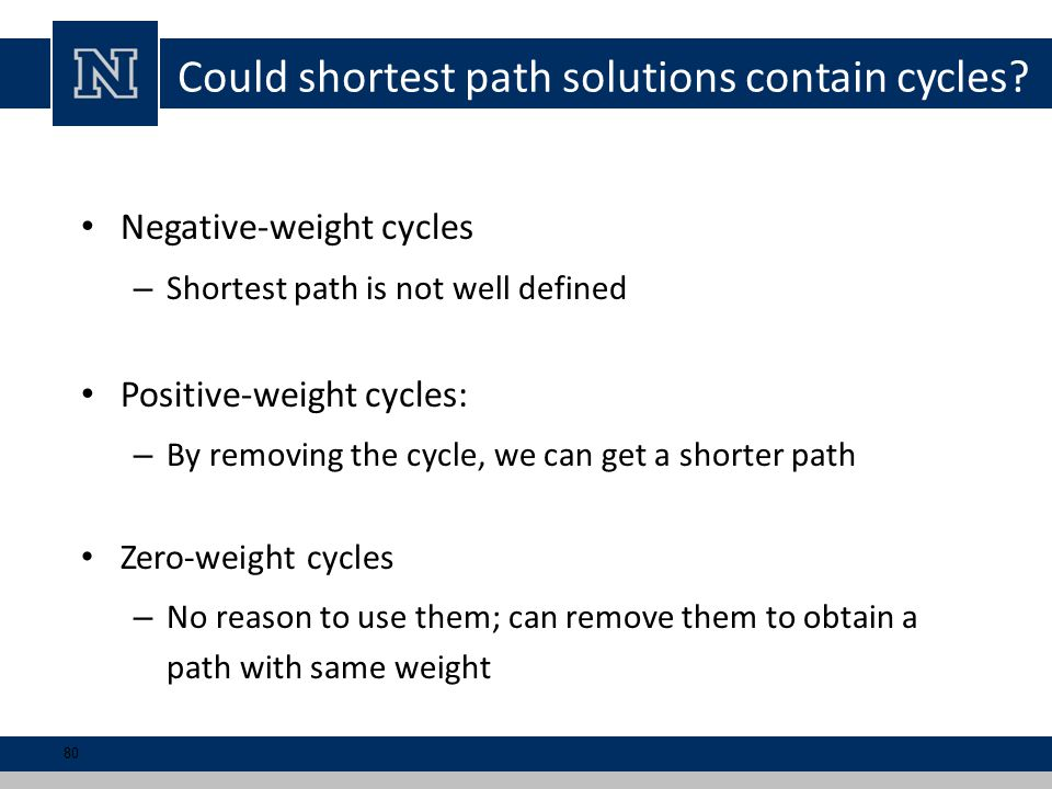 Could shortest path solutions contain cycles.