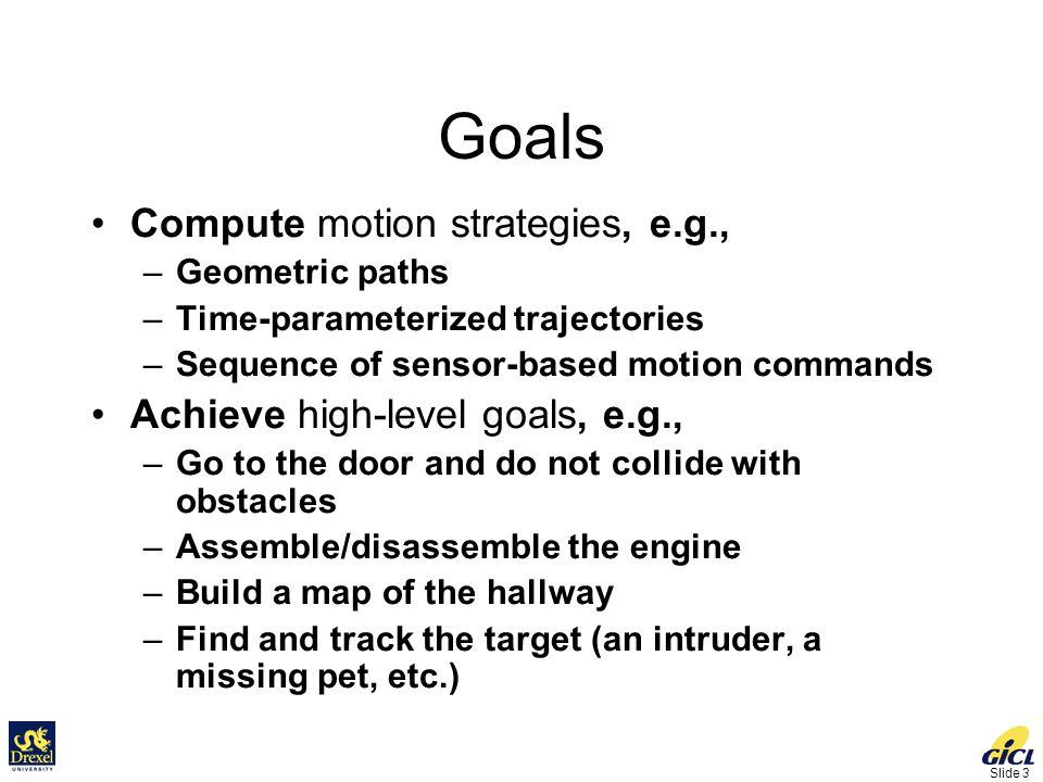 Slide 64 Configuration Space Computation [Varadhan et al, ICRA 2006] 2 Translation + 1 Rotation 215 seconds Obstacle Robot x  y