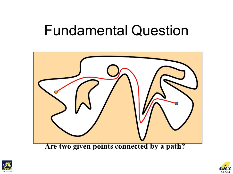 Slide 4 Fundamental Question Are two given points connected by a path