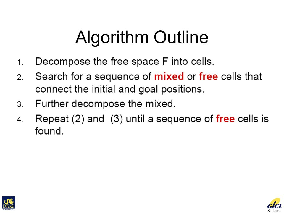 Slide 50 Algorithm Outline
