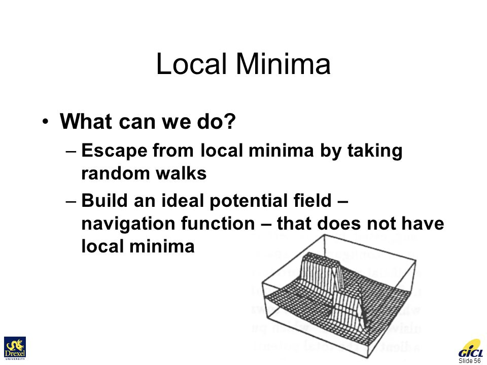 Slide 56 Local Minima What can we do.