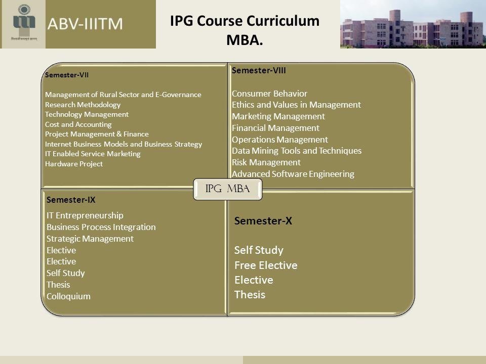 IPG Course Curriculum MTech.
