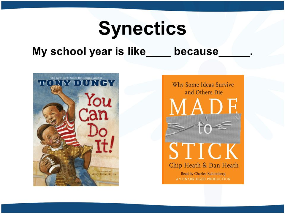Synectics My school year is like____ because_____.