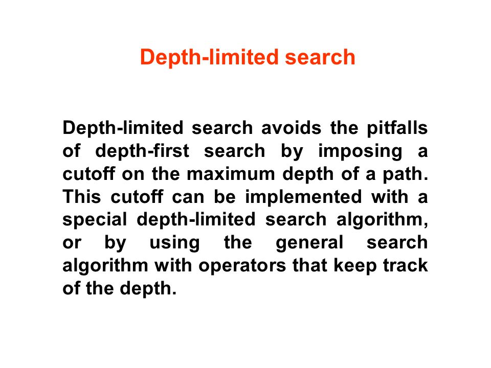 Depth-limited search avoids the pitfalls of depth-first search by imposing a cutoff on the maximum depth of a path.