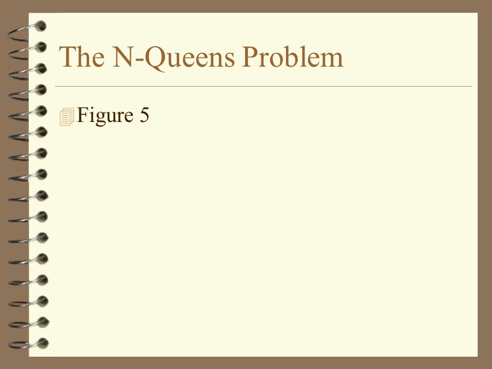 4 Figure 5 The N-Queens Problem