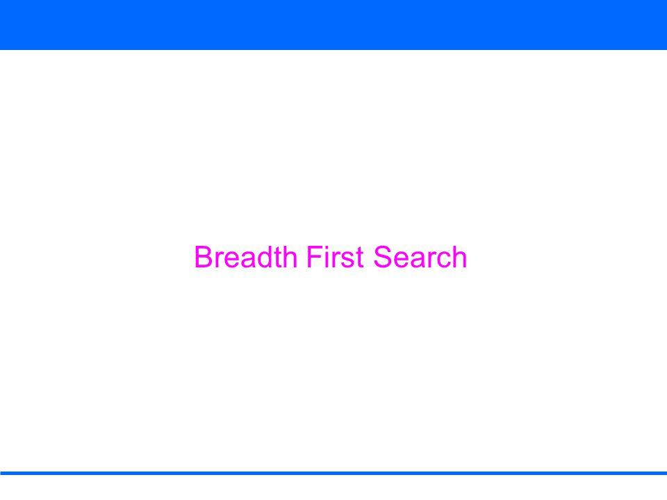 1  0 1     rstu vwxy Breadth First Search DEQUEUE s from Q Adj[s] = w, r color [w] = WHITE color [w] ← GRAY d [w] ← d [s] + 1 = 0 + 1 = 1 π[w] ← s ENQUEUE (Q, w) color [r] = WHITE color [r] ← GRAY d [r] ← d [s] + 1 = 0 + 1 = 1 π[r] ← s ENQUEUE (Q, r) color [s] ← BLACK w Q r