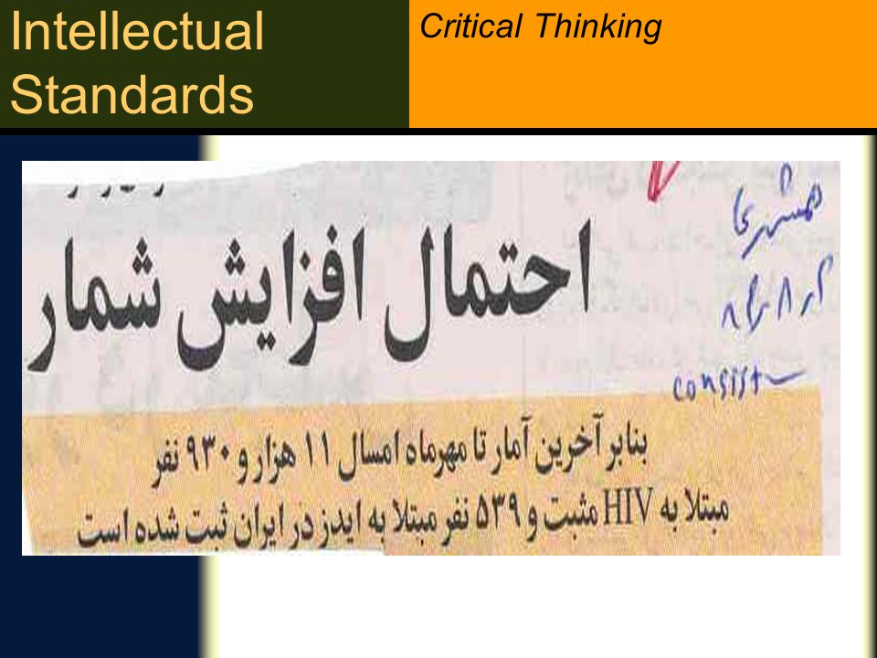 Critical Thinking Intellectual Standards Impediments: What s Difficult About Being Precise,We often overlook the need to be precise, lt takes work to be precise.
