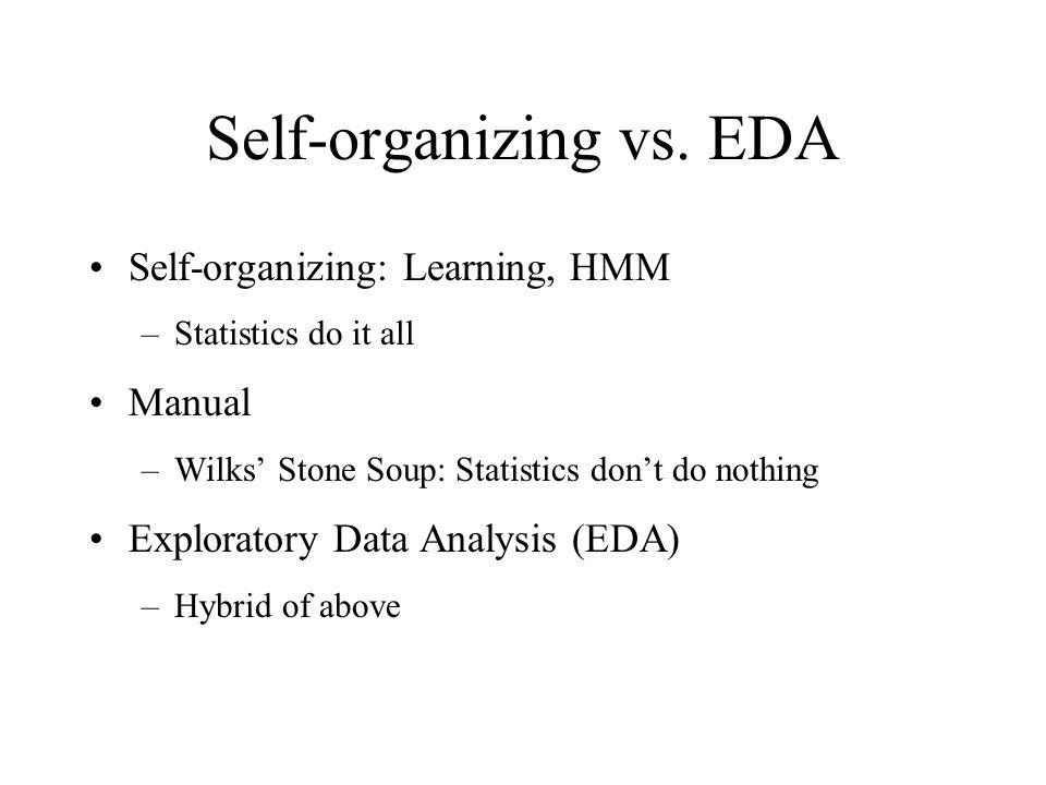 Self-organizing vs.