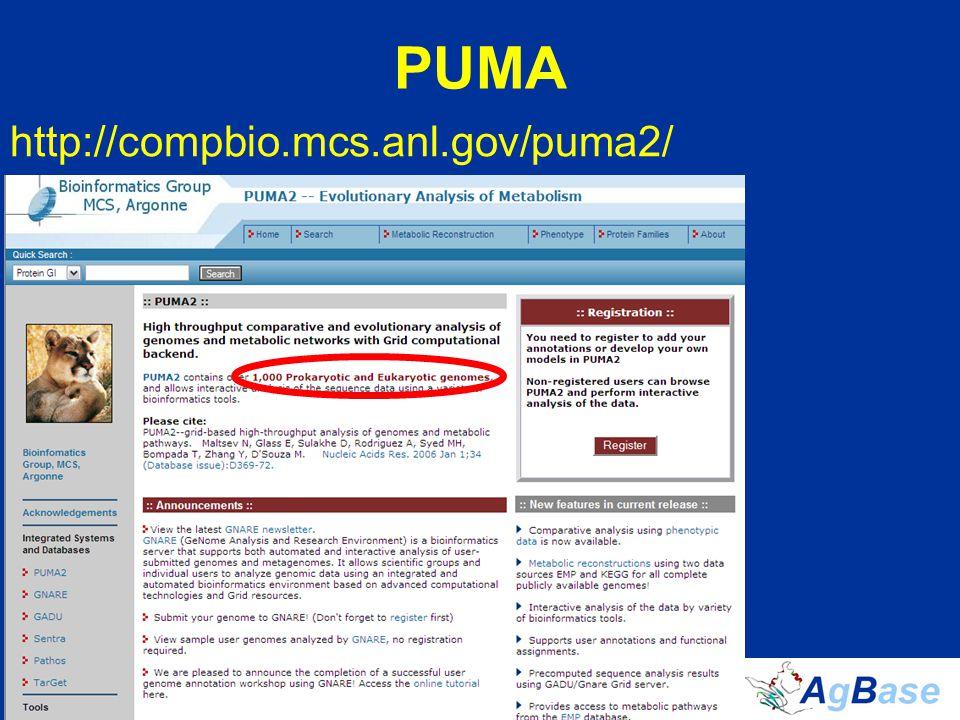 PUMA http://compbio.mcs.anl.gov/puma2/