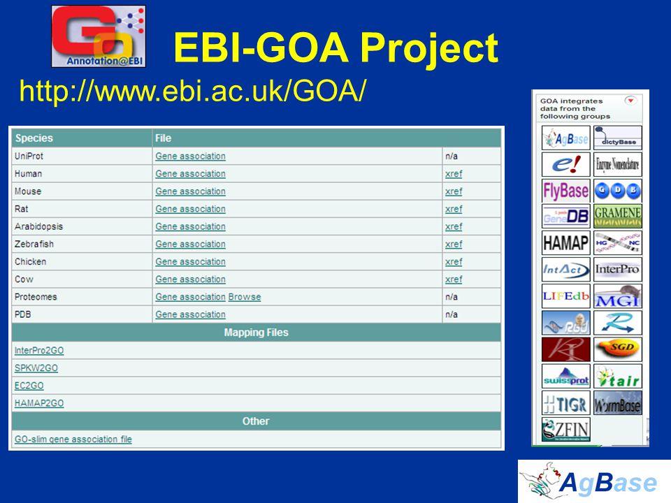 EBI-GOA Project http://www.ebi.ac.uk/GOA/