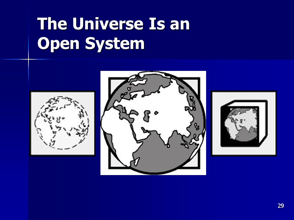 29 The Universe Is an Open System
