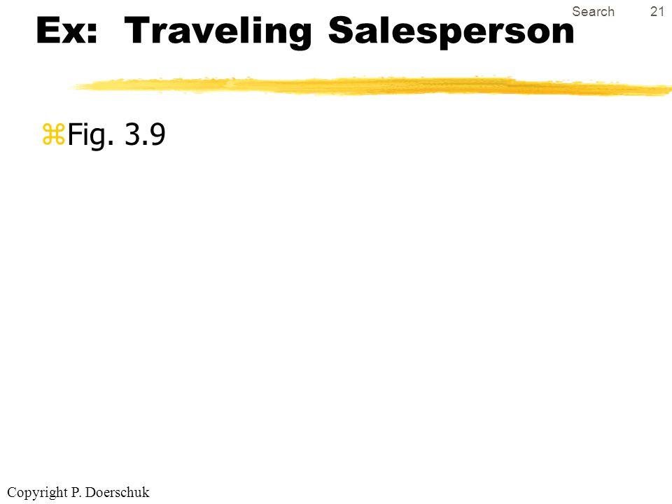 Copyright P. Doerschuk Search21 Ex: Traveling Salesperson zFig. 3.9