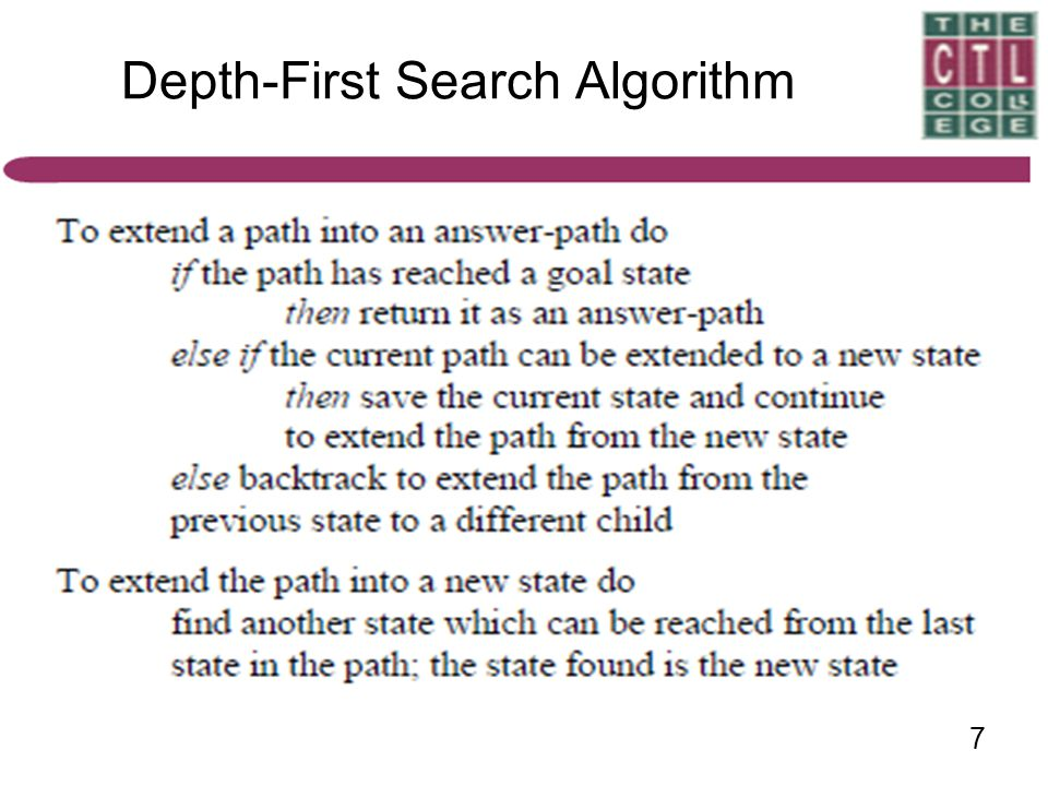 7 Depth-First Search Algorithm
