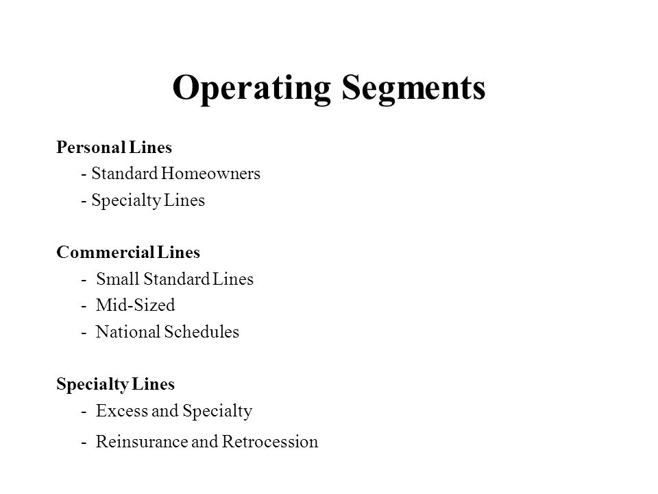 Personal Lines Standard Homeowners Strategy Considerations –Return requirements versus market price –Regulatory constraints Pricing Non-renewal Coverage breadth –Agency considerations –Account rounding (with Auto) –Geographic spread –Other income sources –Reinsurance dependency Model Usage –Portfolio level