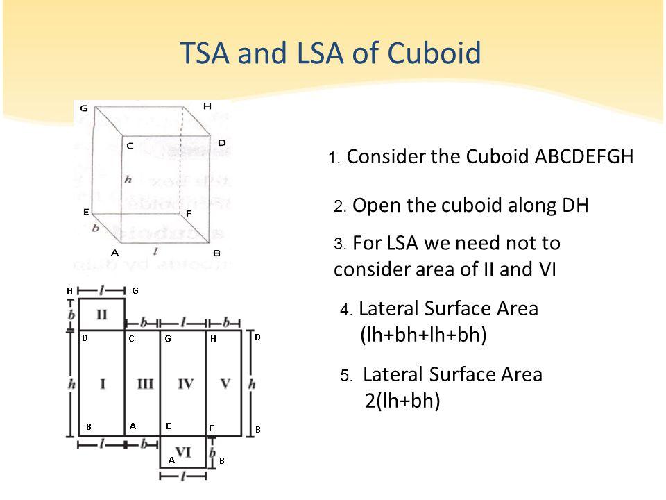 1.Consider the Cuboid ABCDEFGH 2. Open the cuboid along DH 3.