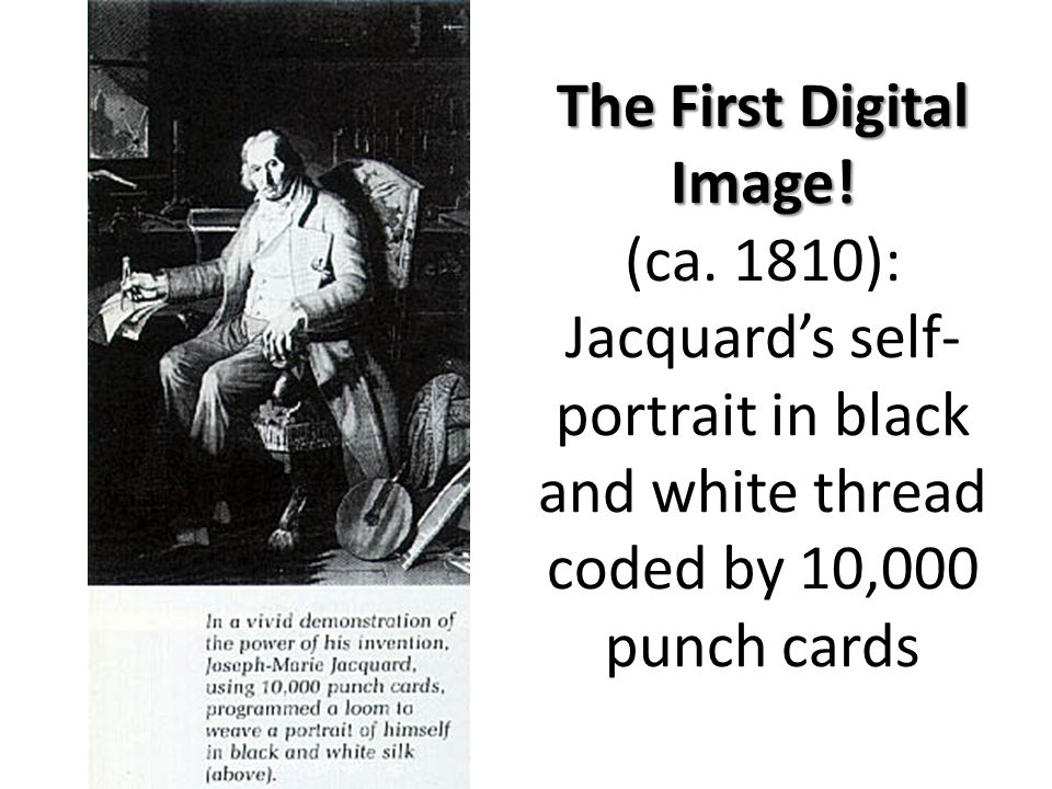 The First Digital Image. The First Digital Image.