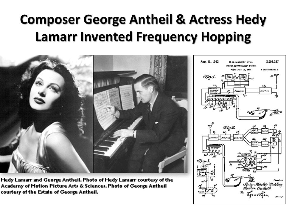 Composer George Antheil & Actress Hedy Lamarr Invented Frequency Hopping
