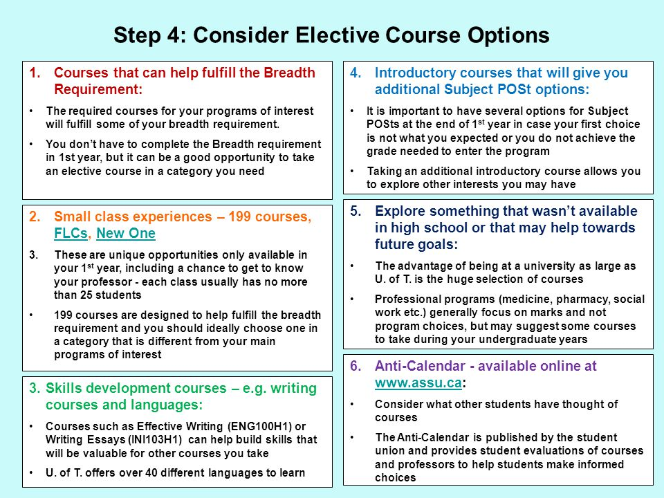 Step 5: Review Course Descriptions and Course Prerequisites in the Arts and Science Calendar PHY131H1 Introduction to Physics I A first university physics course primarily for students not intending to pursue a Specialist or Major program in Physical or Mathematical Sciences.