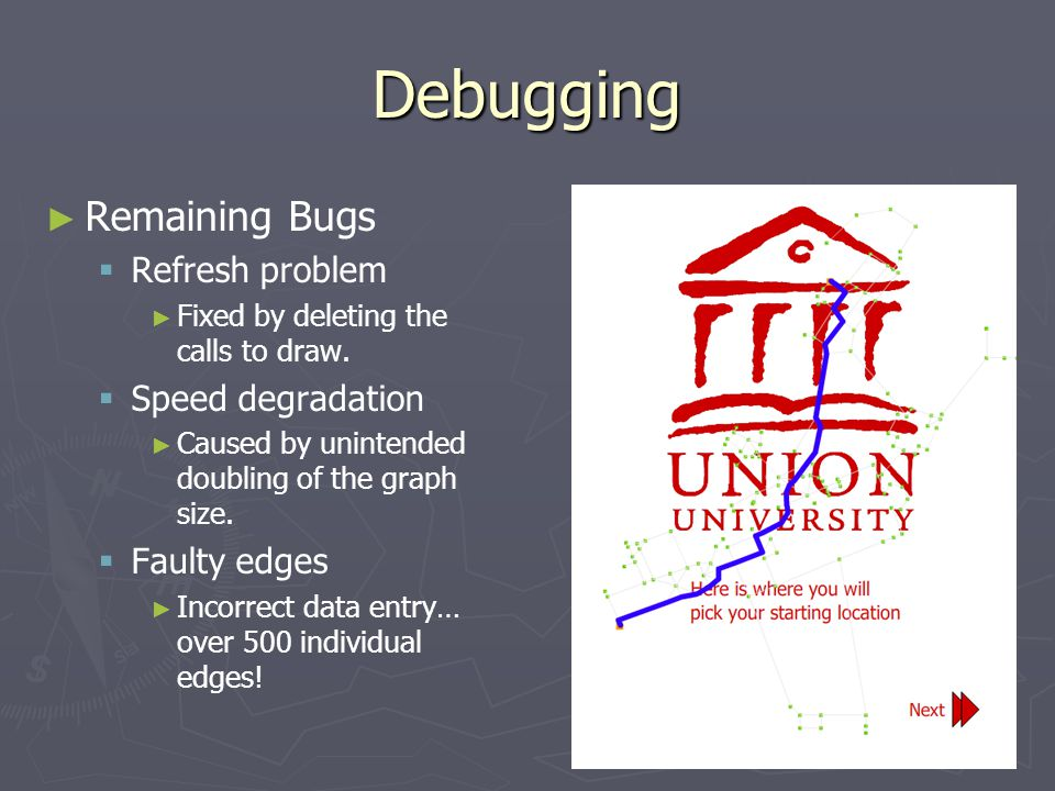 Debugging ► ► Remaining Bugs   Refresh problem ► ► Fixed by deleting the calls to draw.