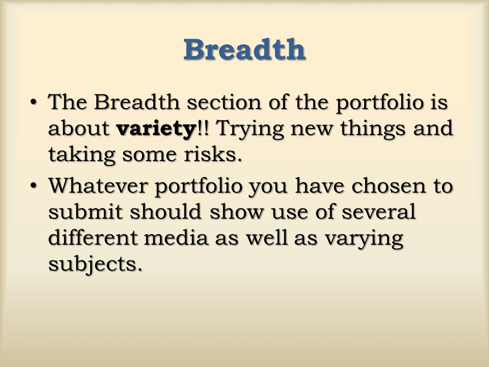 Drawing Breadth Student Examples from 2007 AP Portfolios Plano, TX