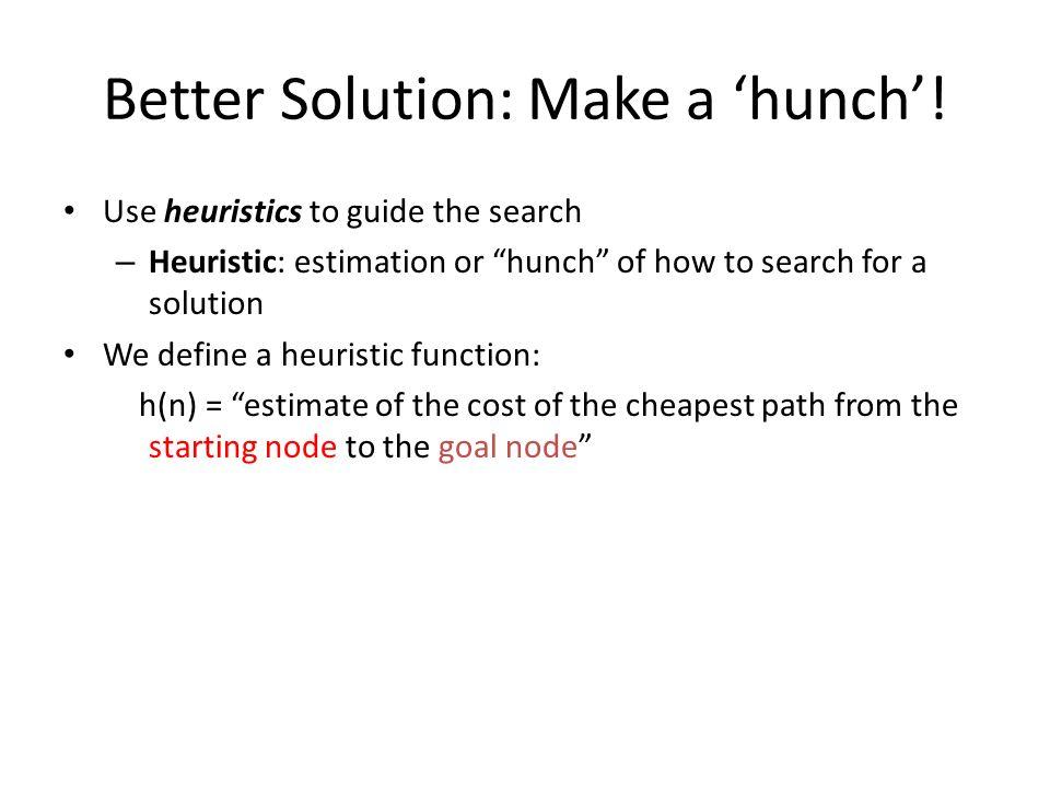 Better Solution: Make a 'hunch'.