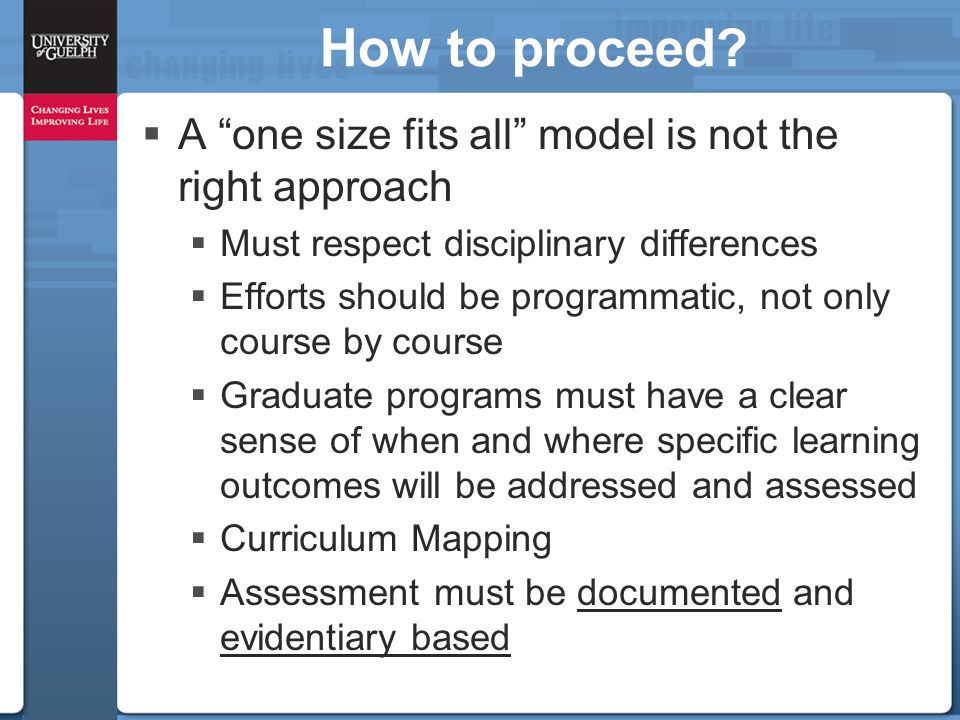 """How to proceed?  A """"one size fits all"""" model is not the right approach  Must respect disciplinary differences  Efforts should be programmatic, not"""