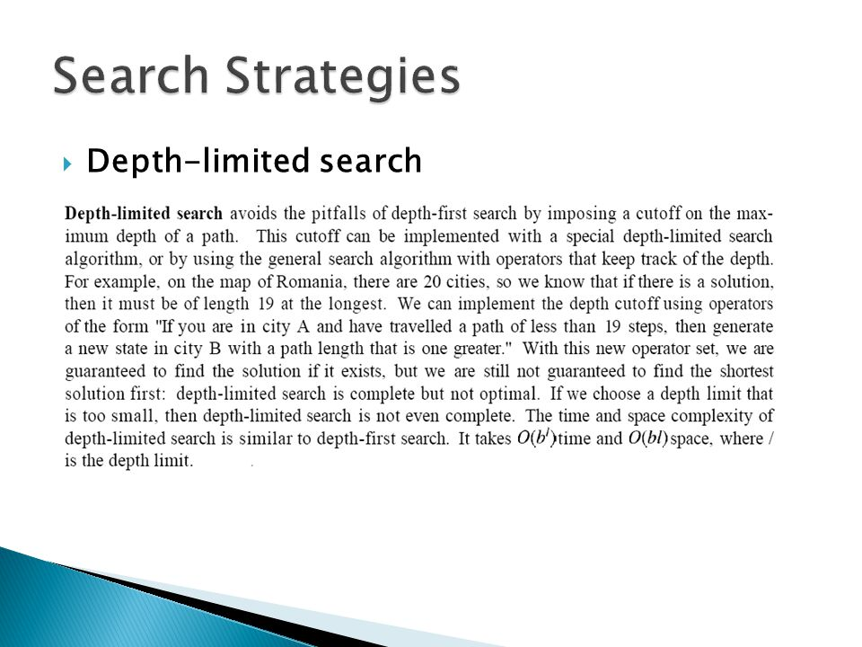  Depth-limited search