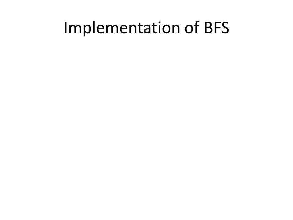Implementation of BFS