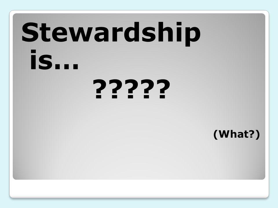 Stewardship is… (What )