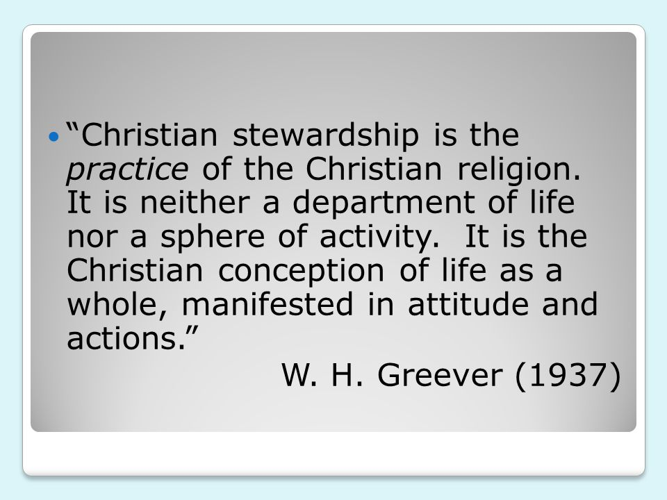 (Stewardship is about using) your uniqueness to make a big deal about God every day of your life.