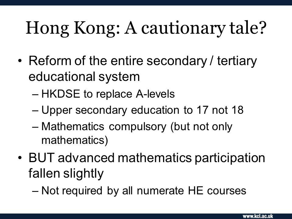 Hong Kong: A cautionary tale.