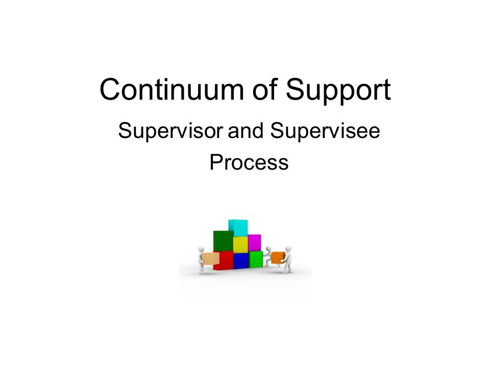 Continuum of Support Supervisor and Supervisee Process