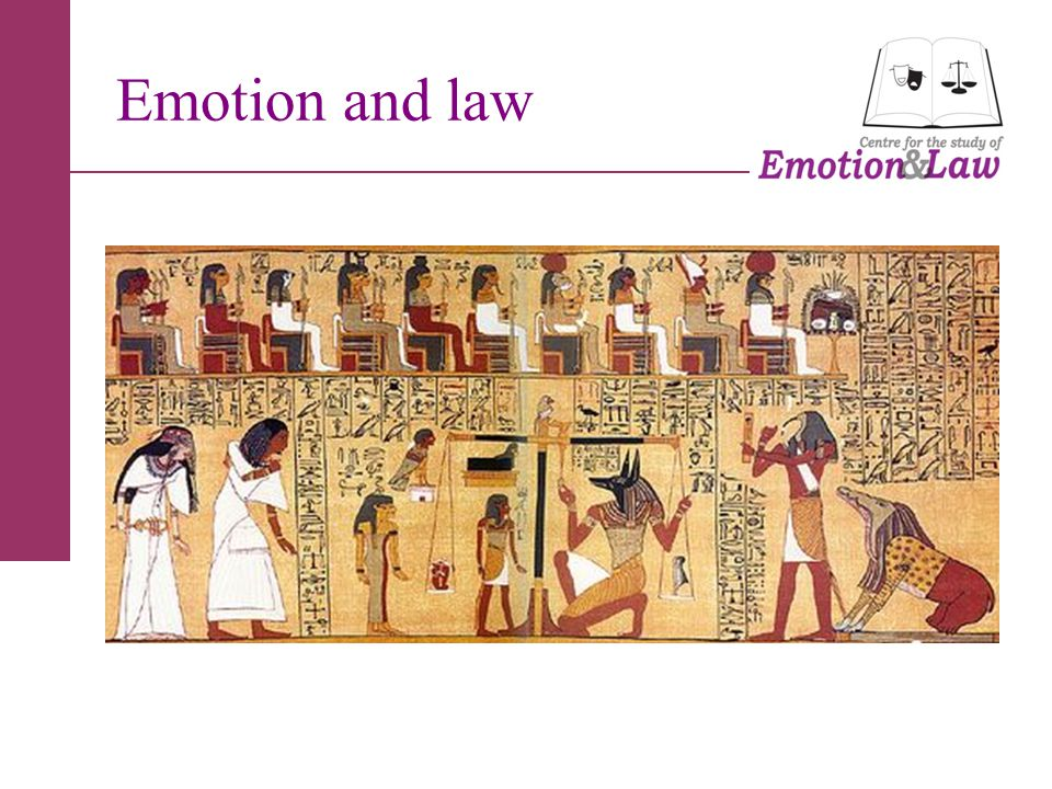 Emotion and law