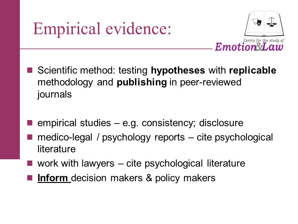 Breadth of evidence