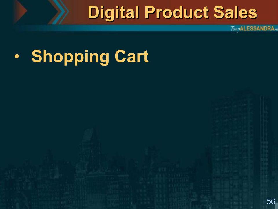 56 Digital Product Sales Shopping Cart