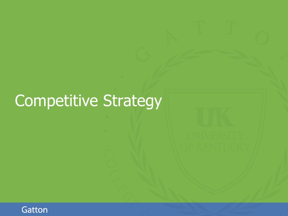 Page 1 Competitive Strategy