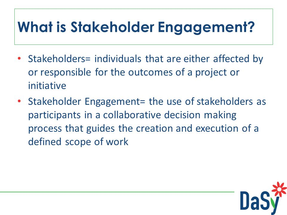 What is Stakeholder Engagement.