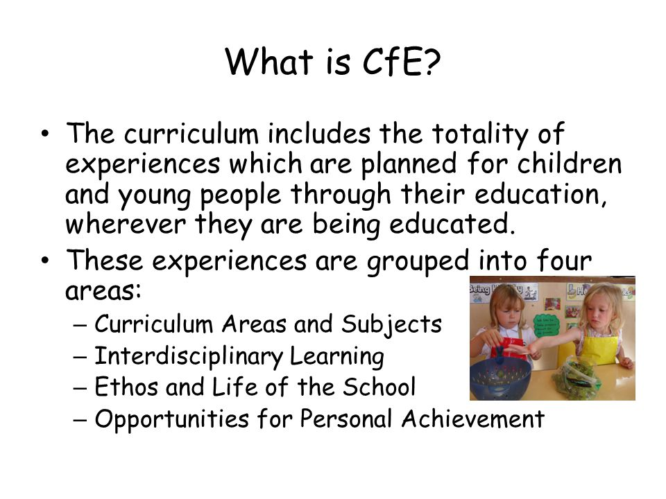 What is CfE.