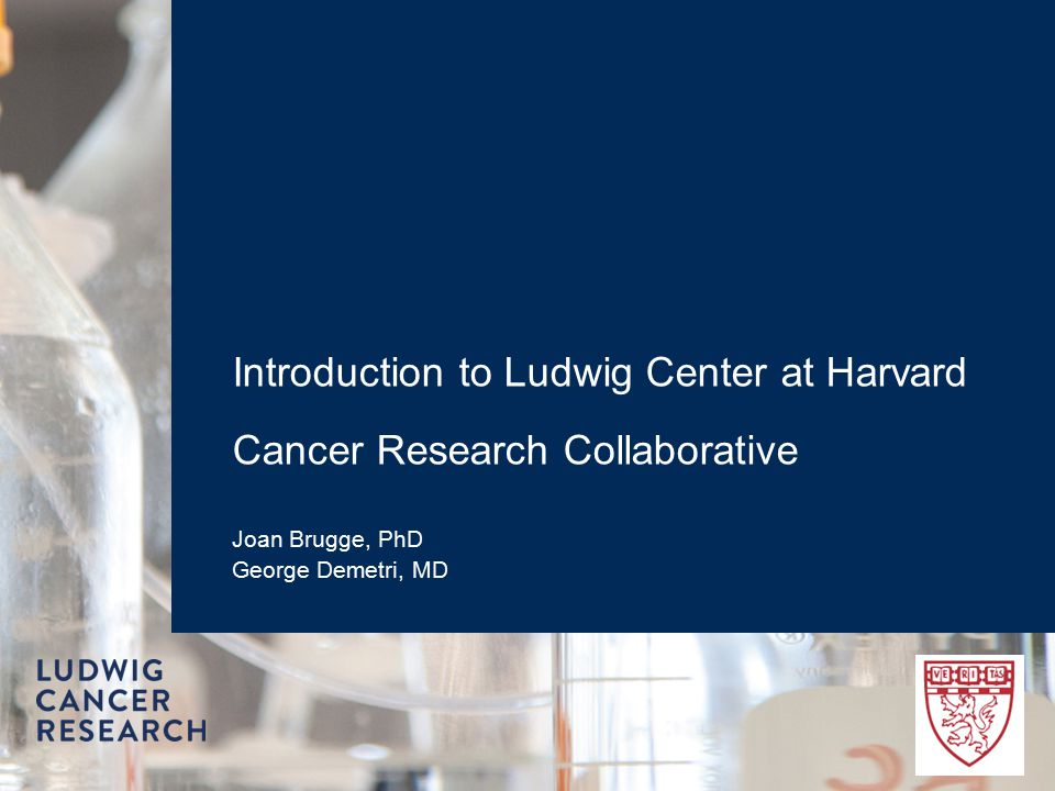 Introduction to Ludwig Center at Harvard Cancer Research Collaborative Joan Brugge, PhD George Demetri, MD