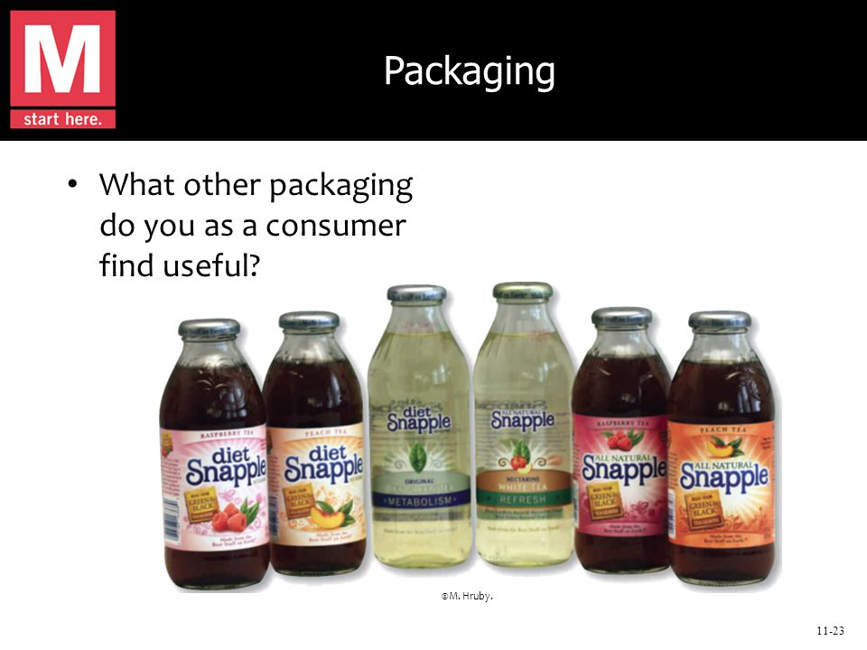 11-23 Packaging What other packaging do you as a consumer find useful ©M. Hruby.