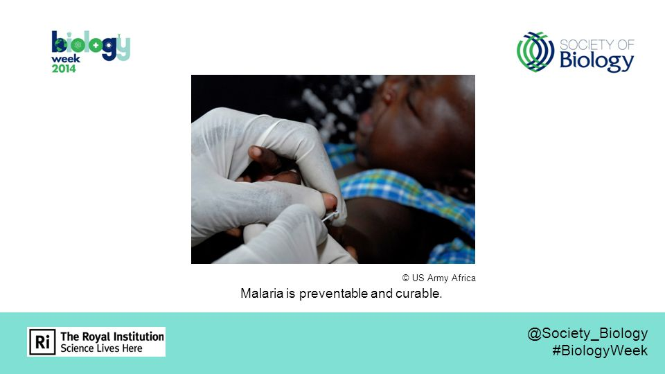 © US Army Africa Malaria is preventable and curable.