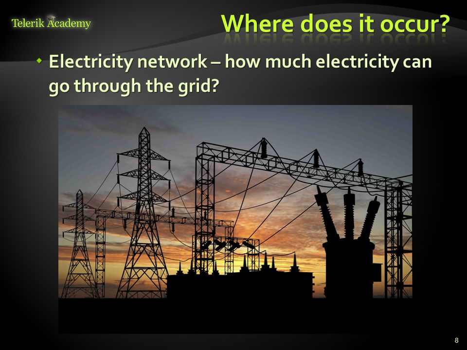  Electricity network – how much electricity can go through the grid 8