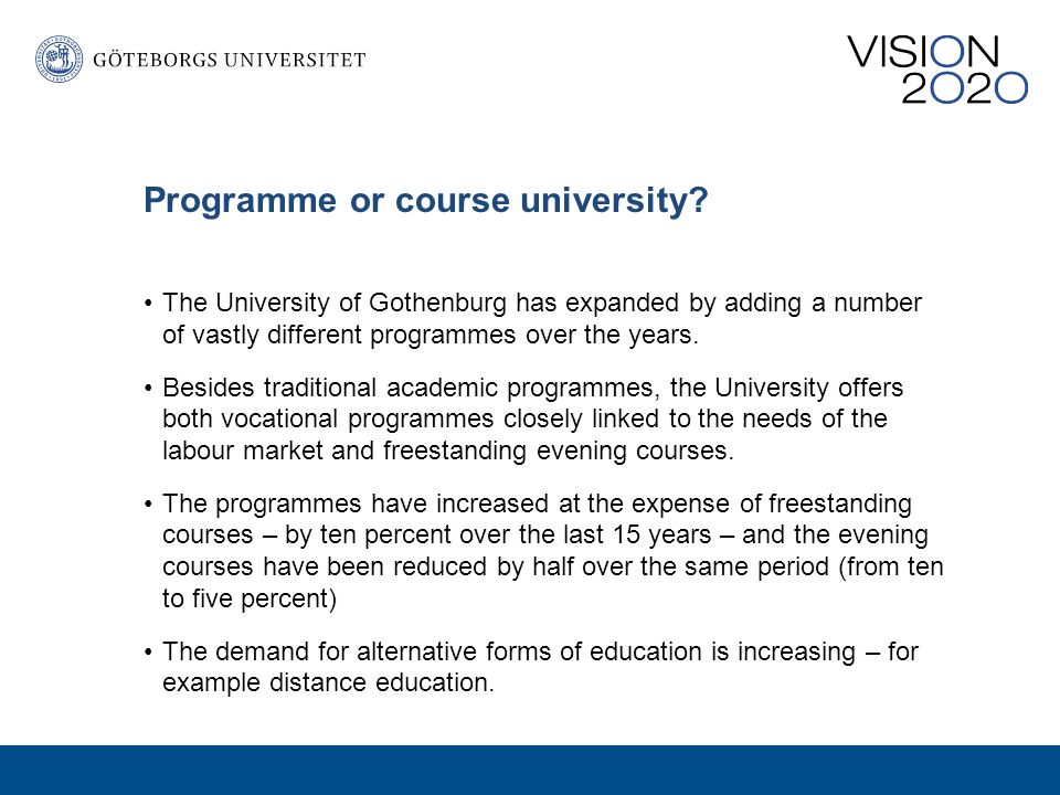 Programme or course university.