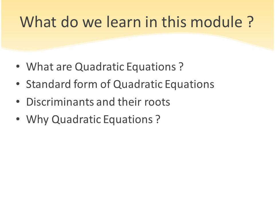 5. QUADRATIC EQUATIONS