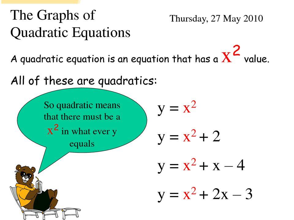 Examples of quadratic equations